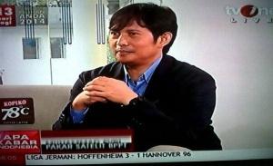 Dr. M. Evri sebagai narasumber di TVOne terkait hilangnya pesawat MH 370